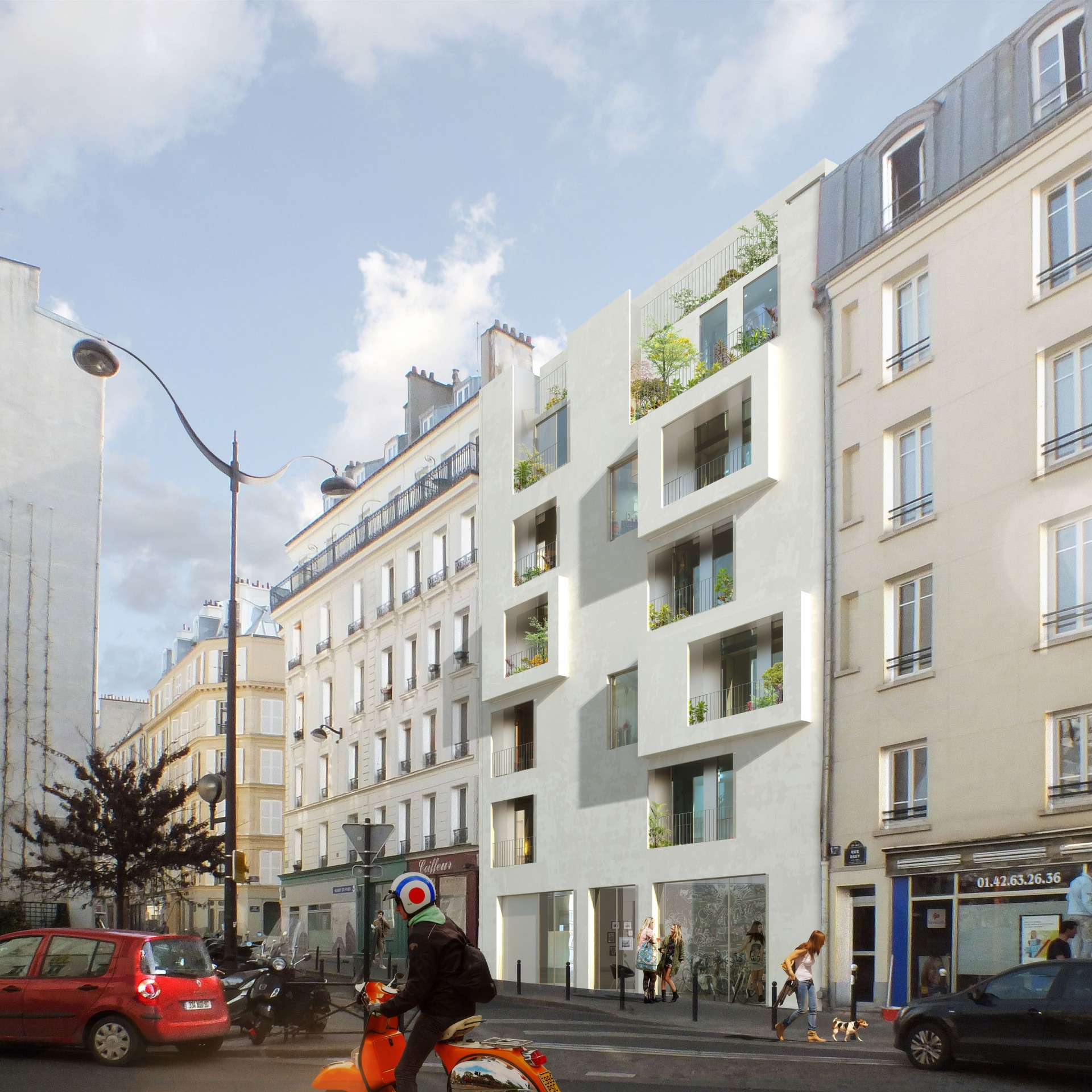 Paris (75017), 72 logements - Agence Catherine Dormoy Architectes