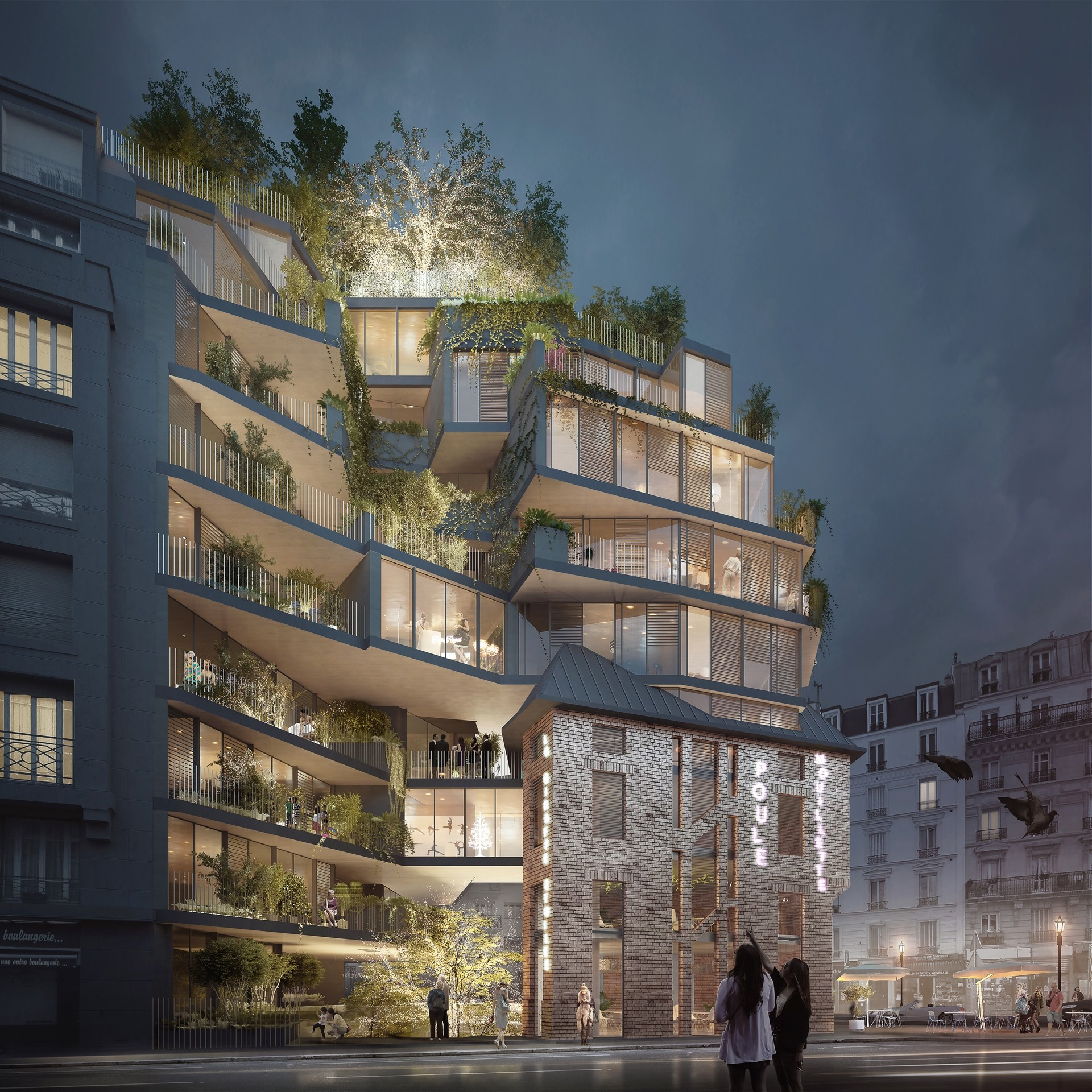 Paris (75015), Le premier immeuble Nudge, Agence Catherine Dormoy Architectes